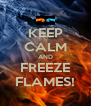 KEEP CALM AND FREEZE FLAMES! - Personalised Poster A4 size