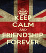 KEEP CALM AND FRIENDSHIP FOREVER - Personalised Poster A4 size