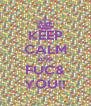 KEEP CALM AND FUC& YOU!! - Personalised Poster A4 size