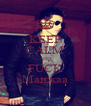 KEEP CALM AND FUCK Манжаа - Personalised Poster A4 size