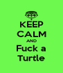 KEEP CALM AND Fuck a Turtle - Personalised Poster A4 size