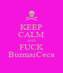 KEEP CALM AND FUCK BurmaiCeca - Personalised Poster A4 size