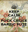 KEEP CALM AND FUCK CECILE BARZIC PUTE - Personalised Poster A4 size