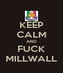 KEEP CALM AND FUCK MILLWALL - Personalised Poster A4 size