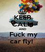 KEEP CALM AND  Fuck my car fly!  - Personalised Poster A4 size
