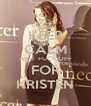KEEP CALM AND  FUCK OFF FOR KRISTEN - Personalised Poster A4 size