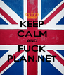 KEEP CALM AND FUCK PLAN.NET - Personalised Poster A4 size