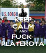 KEEP CALM AND FUCK  PLATEROTA - Personalised Poster A4 size