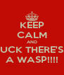 KEEP CALM AND FUCK THERE'S   A WASP!!!! - Personalised Poster A4 size