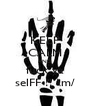 KEEP CALM AND fuck ya selFF !! \m/ - Personalised Poster A4 size
