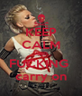 KEEP CALM AND FUCKING  carry on - Personalised Poster A4 size