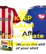 KEEP CALM AND fucking hate the scum - Personalised Poster A4 size