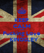KEEP CALM AND Fucking Love    KINGSLEY - Personalised Poster A4 size