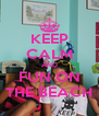 KEEP CALM AND FUN ON THE BEACH - Personalised Poster A4 size