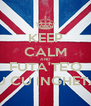 KEEP CALM AND FUTA'TE'O OMU CU INGHETATA - Personalised Poster A4 size
