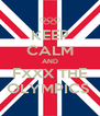 KEEP CALM AND FXXX THE OLYMPICS  - Personalised Poster A4 size