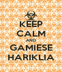 KEEP CALM AND GAMIESE HARIKLIA - Personalised Poster A4 size