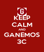 KEEP CALM AND GANEMOS 3C - Personalised Poster A4 size