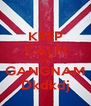KEEP CALM AND GANGNAM Dkdkdj - Personalised Poster A4 size