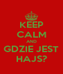 KEEP CALM AND GDZIE JEST HAJS? - Personalised Poster A4 size