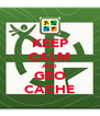 KEEP CALM AND GEO CACHE - Personalised Poster A4 size