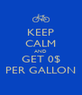 KEEP CALM AND GET 0$ PER GALLON - Personalised Poster A4 size