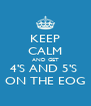 KEEP CALM AND GET 4'S AND 5'S  ON THE EOG - Personalised Poster A4 size