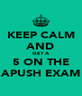 KEEP CALM AND GET A 5 ON THE APUSH EXAM - Personalised Poster A4 size