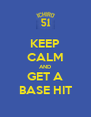 KEEP CALM AND GET A BASE HIT - Personalised Poster A4 size