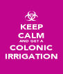 KEEP CALM AND GET A COLONIC IRRIGATION - Personalised Poster A4 size