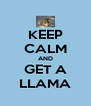 KEEP CALM AND GET A LLAMA - Personalised Poster A4 size