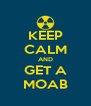 KEEP CALM AND GET A MOAB - Personalised Poster A4 size