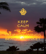 KEEP CALM AND GET A  TROPICAL WINDS BEACH BLANKET - Personalised Poster A4 size