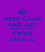 KEEP CALM AND GET AMAZING HUGS FROM JACK xx - Personalised Poster A4 size
