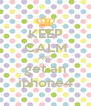 KEEP CALM AND get an iphone4 - Personalised Poster A4 size