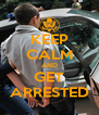 KEEP CALM AND GET ARRESTED - Personalised Poster A4 size