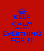 KEEP CALM AND GET EVERTHING FOR £1 - Personalised Poster A4 size