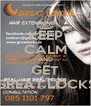 KEEP CALM AND GET GREAT LOCKS - Personalised Poster A4 size