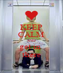 KEEP CALM AND get in  there - Personalised Poster A4 size