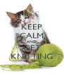 KEEP CALM AND GET KNITTING - Personalised Poster A4 size
