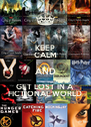 KEEP CALM AND GET LOST IN A  FICTIONAL WORLD - Personalised Poster A4 size