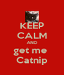 KEEP CALM AND get me  Catnip - Personalised Poster A4 size