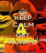 KEEP CALM AND GET MUNK'D - Personalised Poster A4 size