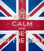 KEEP CALM AND GET ON THE GEAR - Personalised Poster A4 size