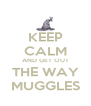 KEEP CALM AND GET OUT THE WAY MUGGLES - Personalised Poster A4 size