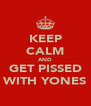 KEEP CALM AND GET PISSED WITH YONES - Personalised Poster A4 size