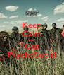 Keep Calm And Get PsychoSocial - Personalised Poster A4 size