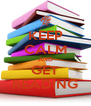 KEEP CALM AND GET READING - Personalised Poster A4 size
