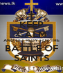 KEEP CALM AND GET REDY FOR THE BATTLE OF SAINTS - Personalised Poster A4 size