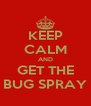 KEEP CALM AND GET THE BUG SPRAY - Personalised Poster A4 size